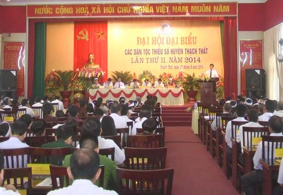 Đại hội đại biểu dân tộc thiểu số huyện Thạch thất lần thứ 2