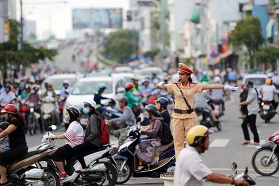Công an huyện tăng cường đảm bảo trật tự an toàn giao thông dịp nghỉ Lễ Quốc khánh 2/9 và khai giảng năm học mới 2019- 2020