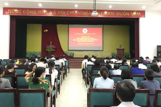 Hội Chữ thập đỏ tập huấn Luật và Điều lệ Hội Chữ thập đỏ