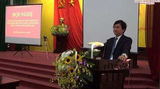 Huyện ủy Thạch Thất triển khai Kế hoạch thực hiện Quy định số 08 của Ban Chấp hành Trung ương Đảng khóa XII