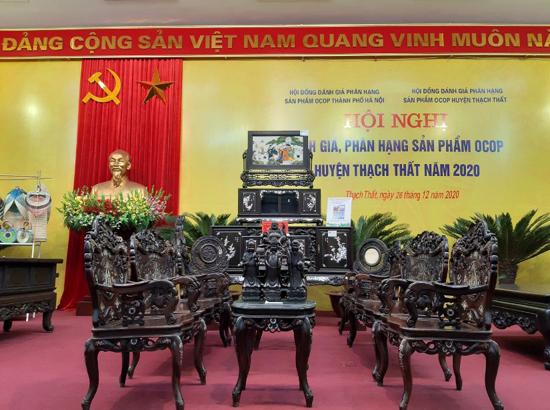 Hội nghị đánh giá, phân hạng sản phẩm OCOP huyện Thạch Thất năm 2020