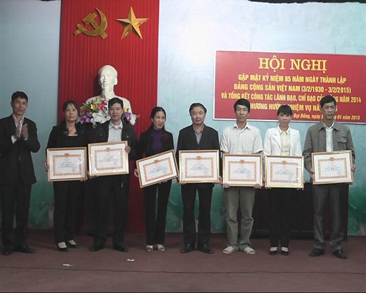 Đảng bộ xã Đại Đồng- huyện Thạch Thất tổng kết công tác Đảng năm 2014 và triển khai nhiệm vụ năm 2015.