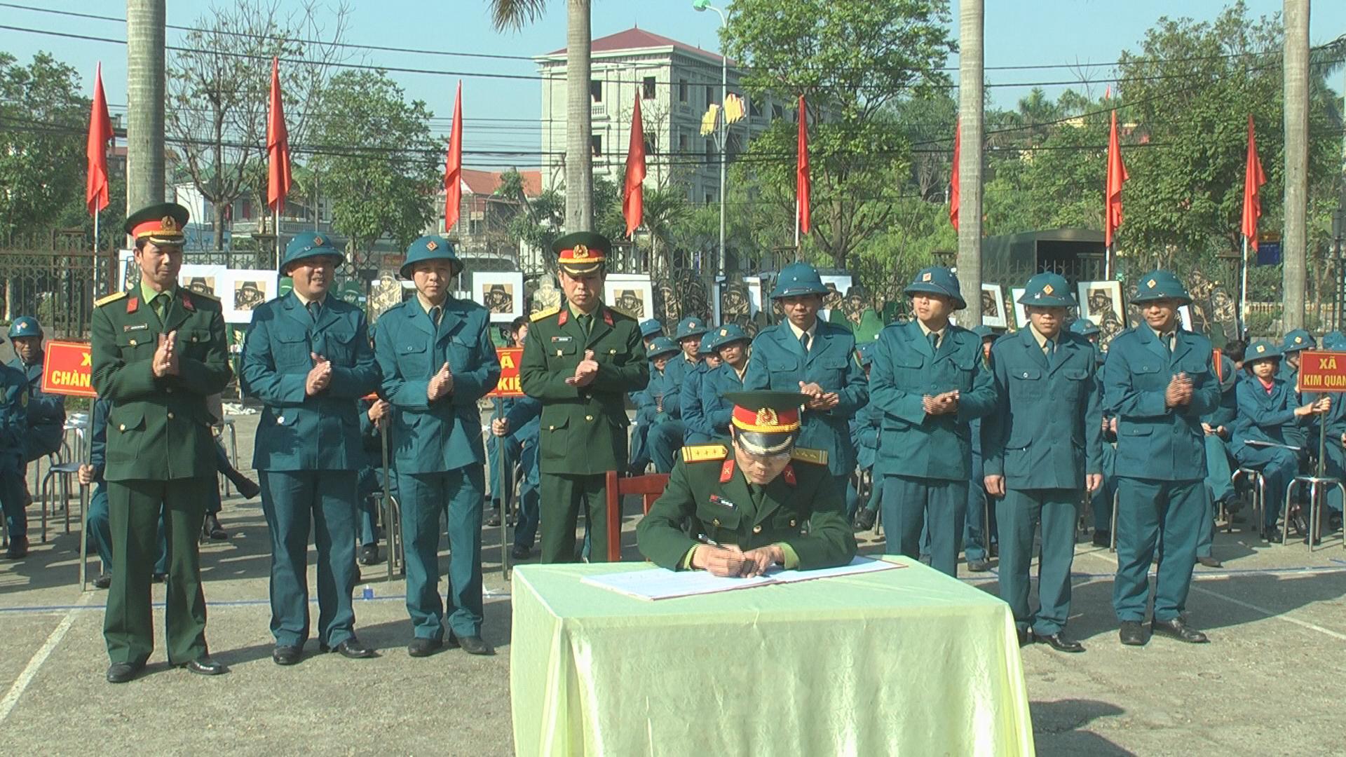 Lễ ra quân huấn luyện năm 2016.