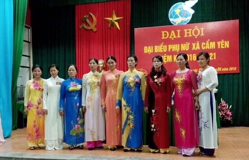 Đại hội Phụ nữ xã Cẩm Yên nhiệm kỳ 2016- 2021.