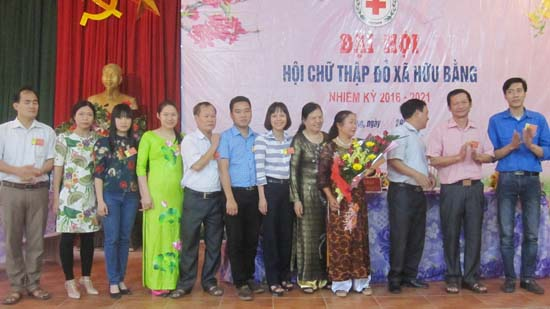 Đại hội Chữ thập đỏ xã Hữu Bằng nhiệm kỳ 2016- 2021