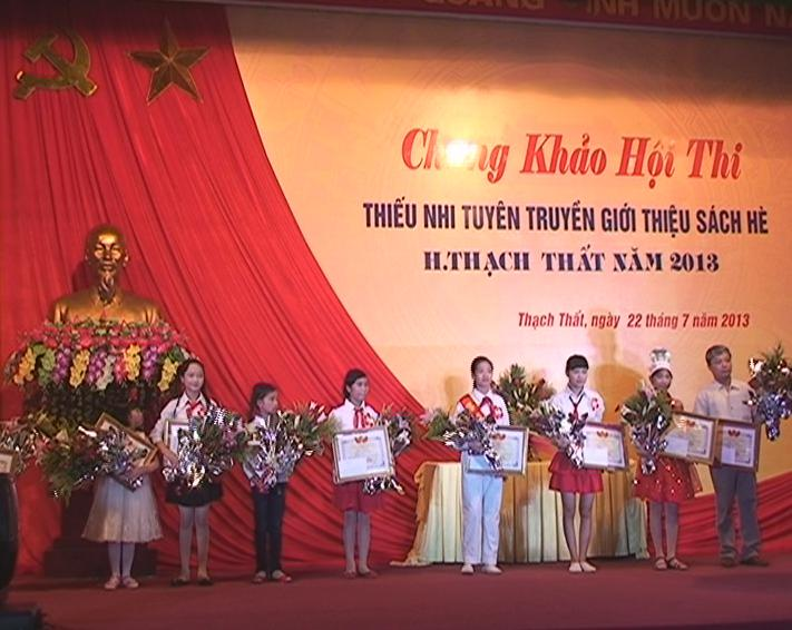 Huyện Thạch Thất tổ chức chung khảo hội thi thiếu nhi tuyên truyền giới thiệu sách hè