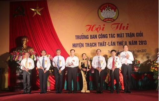Huyện Thạch Thất tổ chức chung khảo hội thi Trưởng ban công tác mặt trận giỏi năm 2013.