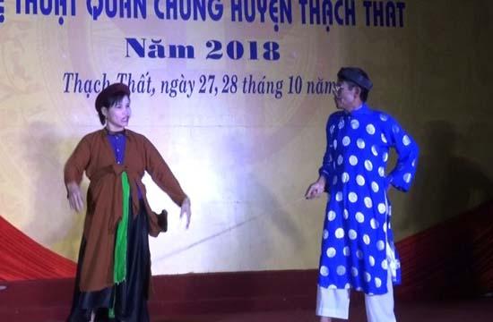 Hội diễn nghệ thuật quần chúng huyện Thạch Thất  năm 2018