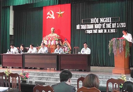 Hội nghị đối thoại thuế quý 3 năm 2013.