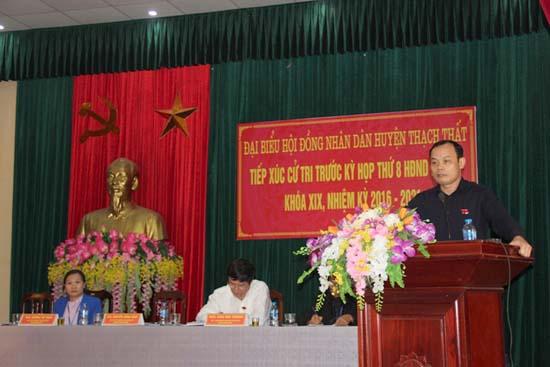 Các tổ đại biểu HĐND huyện tiếp xúc cử tri  trước kỳ họp thứ 8